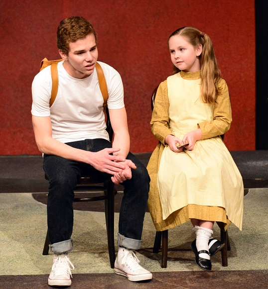Ben Kalish and Victoria Greenlaw in AS LONG AS THE MOON SHINES, Theatre Odyssey's Best Play at the Third Annual Student Ten-Minute Playwriting Festival. Photo credit: Cliff Roles