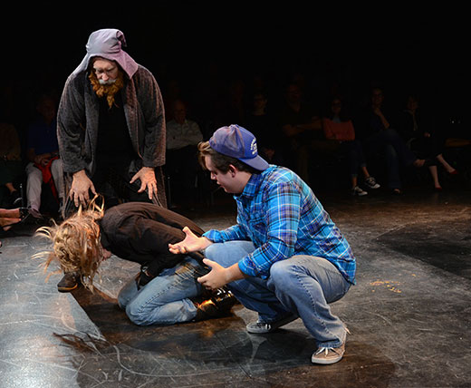 "A scene from ""Therapy"" by Sabrina Viota & Summer Begalki, the 2013 Student Ten-Minute Playwriting Festival Best Play. photo credit: David Taylor."