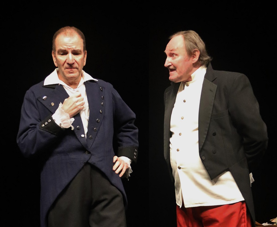 James Kassees and Chuck Conlon In AMAZING GRACE by Luke Valadie, Theatre Odyssey's Best Play in the Fifth Annual Student Ten-Minute Playwriting Festival. Photo by Richard DiSammartino