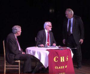 "John Forsyth, Dan Higgs and Tom Aposporos in Arthur Keyser's ""High School Reunion,"" the Tenth Annual Festival winning play. Photo Credit: Cliff Roles"