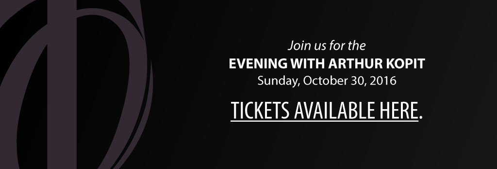 Join us for the Evening with Arthur Kopit - Buy Tickets Now