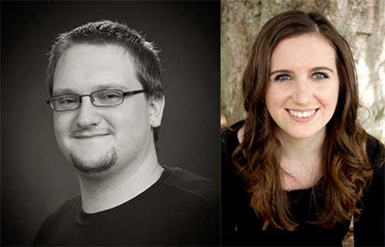 Playwrights Jalex Scott and Nicole Cunningham