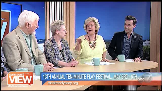 Theatre Odyssey on ABC Suncoast View April 23 for Tenth Play Festival featuring Jenny Armor
