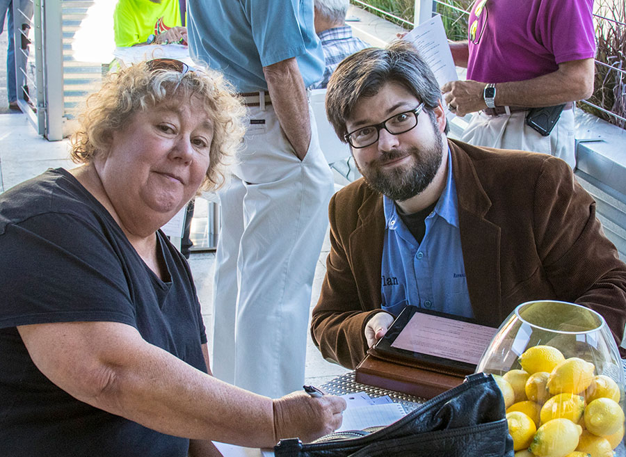 Director Sara Logan and playwright Dylan Jones