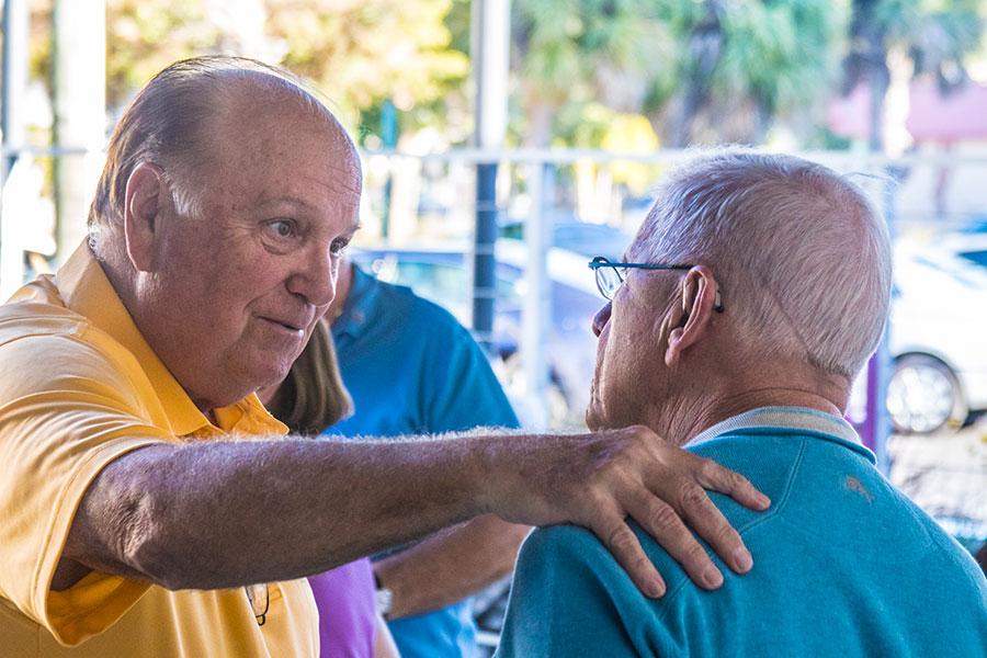 Playwright Ron Pantello and director Bob Trisolini.