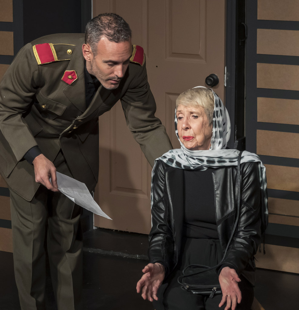 Donna Gerdes and Casey Murphy in GROWL by J.Lois Diamond. Directed by Ann Morrison. Photo by Cliff Roles.