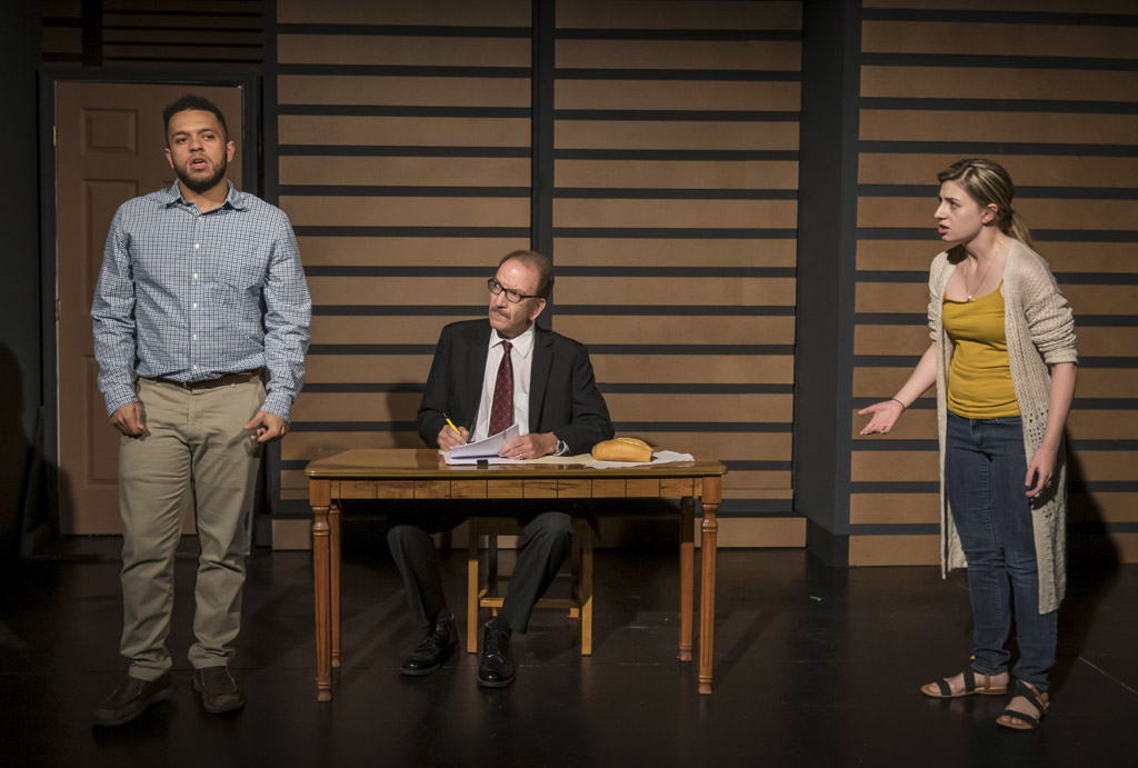 IMMUREMENT by David L Williams, featuring Courtney Anne McLaren, Donovan Whitney and James Kassees. Directed by Vickie Daignault. Photo by Cliff Roles.