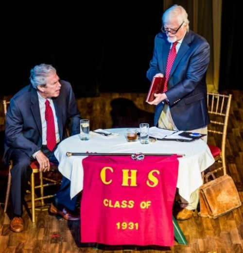 "John Forsyth and Dan Higgs in Arthur Keyser's ""High School Reunion,"" the Tenth Annual Festival winning play."