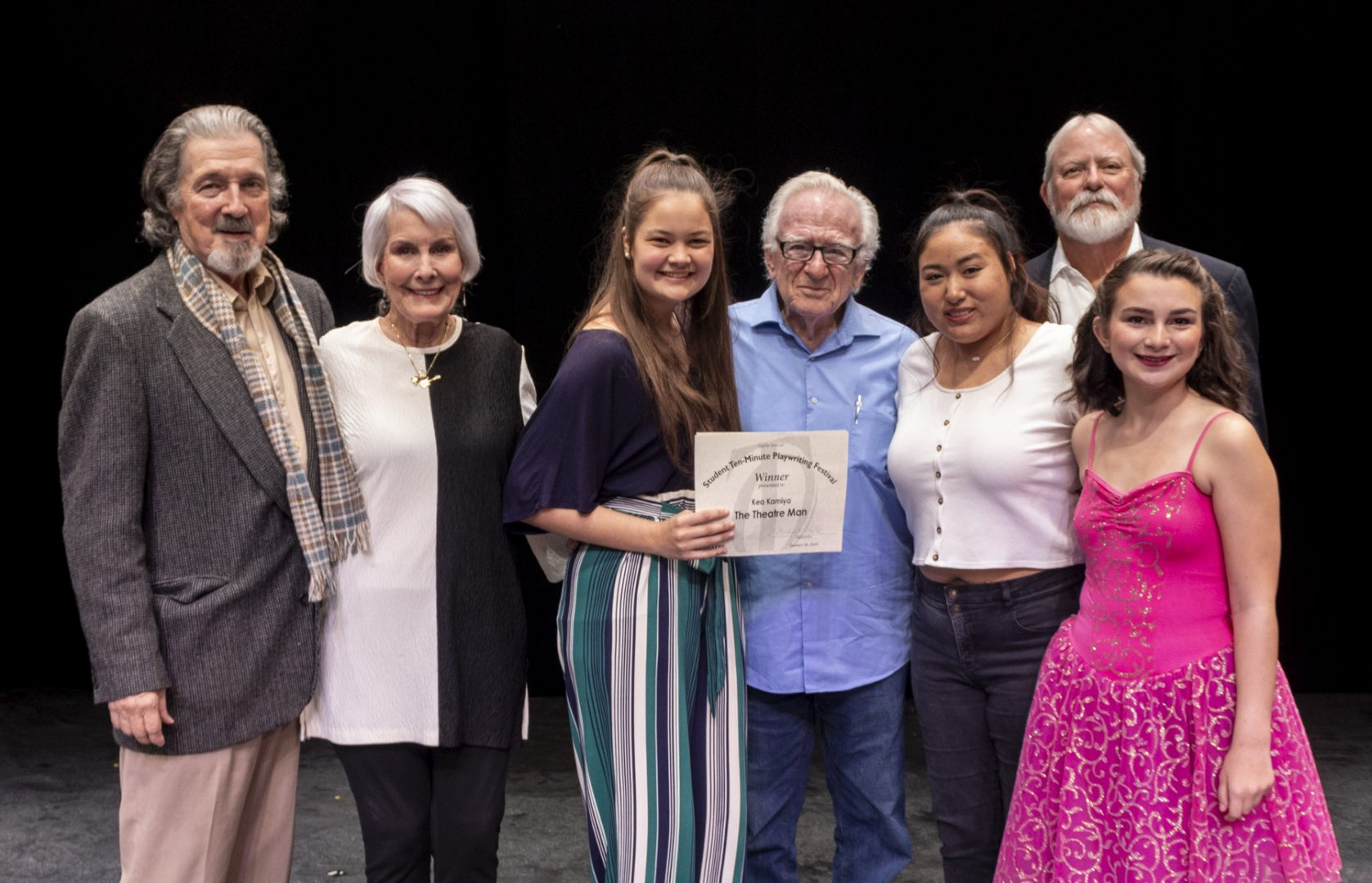 2020 Student Best Play Cast Theatre Man