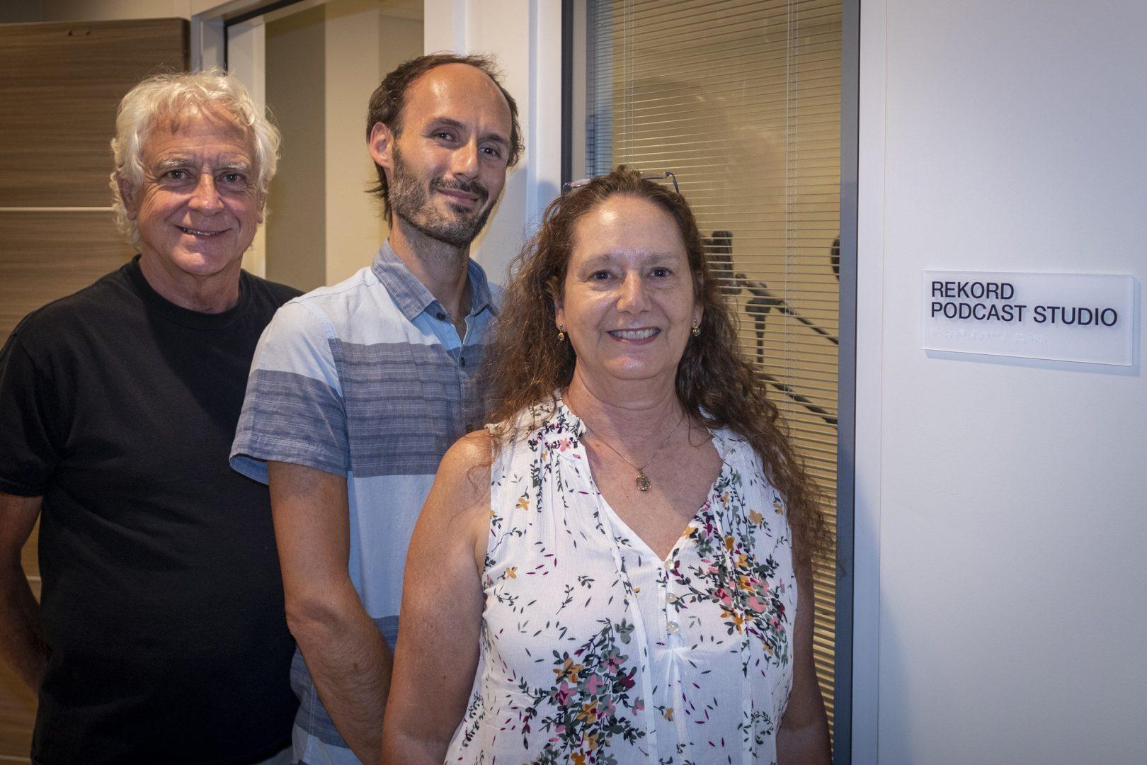 Director Preston Boyd, Thomas Aposporos and Tami Vaughan.